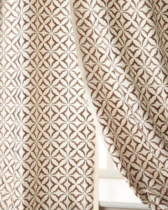 Superior Frost Embroidered Ivory Curtains