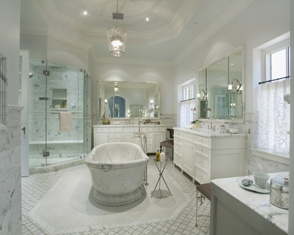 Center Bathtubs Traditional Bathroom Bella Casa Design