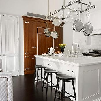 Pot Rack Above Island Design Ideas