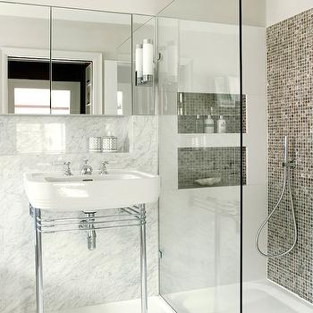 Amory Brown  Accent Wall Shower
