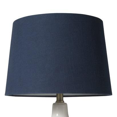 Nate Berkus Blue Linen Lamp Shade