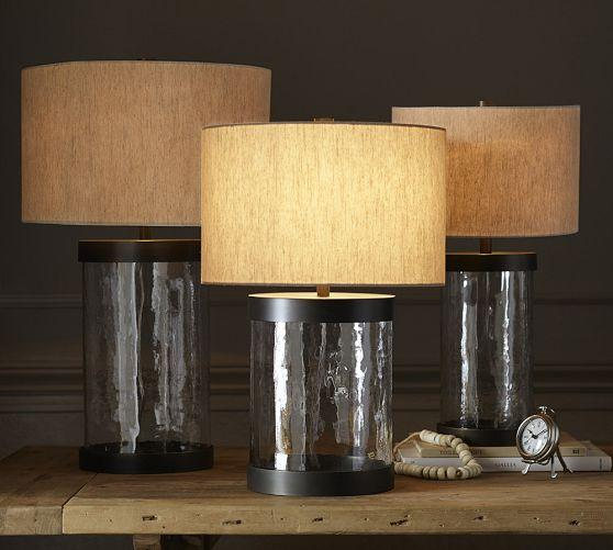 Clear glass table lamp base murano clear glass table lamp base aloadofball Image collections