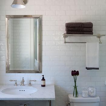 Over The Toilet Shelf, Transitional, bathroom, Marie Christine Design