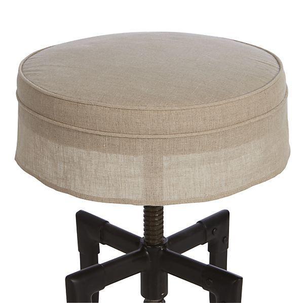 Threshold Linen Grey Saddle Barstool