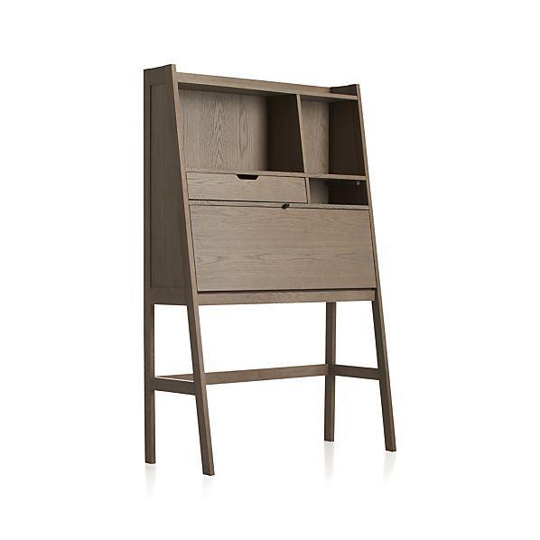 clarke grey secretary. Black Bedroom Furniture Sets. Home Design Ideas