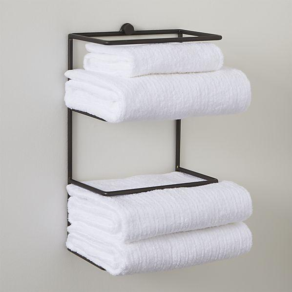 Jackson Wall Mount Black Towel Rack