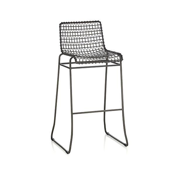 Tig Grey Metal Bar Stool