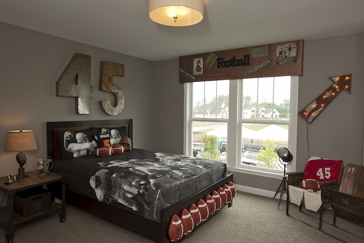 Football Themed Kids Room - Eclectic - boy\'s room - BIA ...