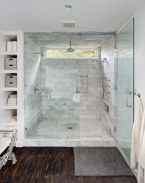 Master Bath Shower Ideas Transitional Bathroom One Kind Design