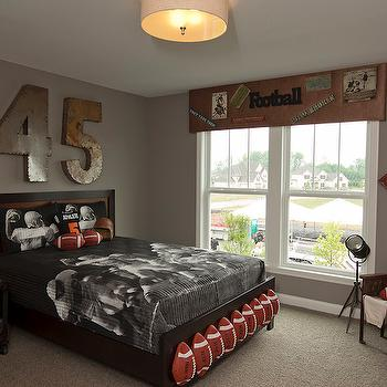 Football Themed Bedroom Fascinating Football Themeed Boy's Room  Contemporary  Boy's Room  Alan Decorating Design