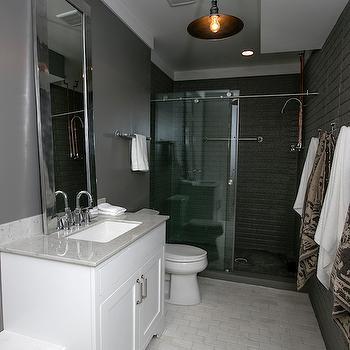 Black Shower Surround, Contemporary, bathroom, BIA Parade of Homes