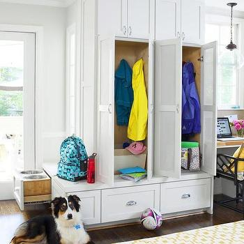 Mudroom Next To Kitchen, Transitional, kitchen, HGTV