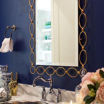 Gold Chain Link Mirror
