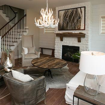 White Brick Fireplace, Transitional, living room, BIA Parade of Homes