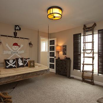 Pirate Themed Kids Room, Eclectic, boy's room, BIA Parade of Homes