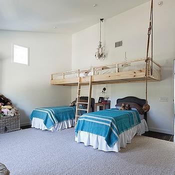 Floating Bed, Transitional, girl's room, One Kind Design