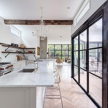 White Pagoda Chandelier, Transitional, kitchen, One Kind Design