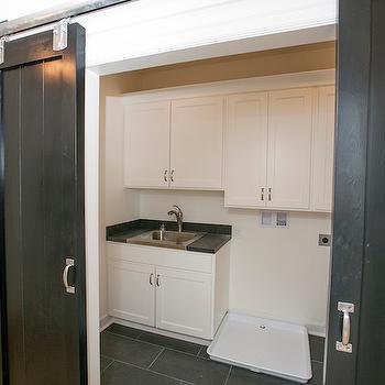 Laundry Room Barn Doors, Transitional, laundry room, BIA Parade of Homes