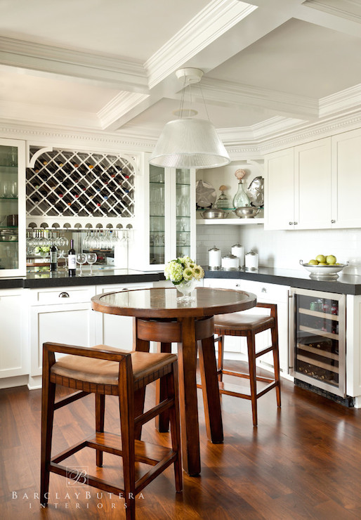 Over The Counter Wine Rack Transitional Kitchen Barclay Butera