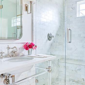 Lucite Sink Vanity, Transitional, bathroom, EJ Interiors