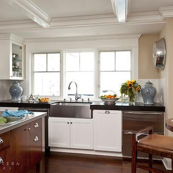 Stacked Dishwashers, Transitional, kitchen, Barclay Butera