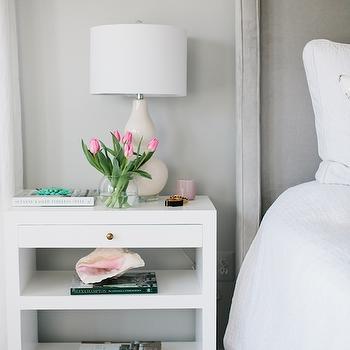 Gray Velvet Headboard, Contemporary, bedroom, JWS Interiors
