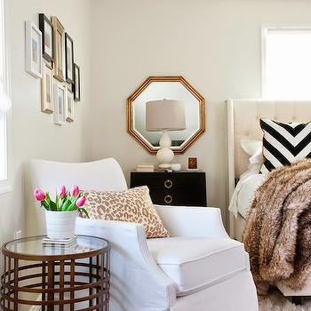 Over The Nightstand Mirror, Transitional, bedroom, JWS Interiors