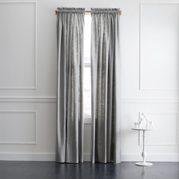 Dwell Studio Linen Grey Curtain Panel