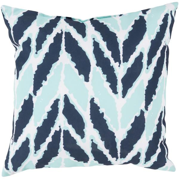 Good DwellStudio Arrow Aqua And Navy Outdoor Pillow