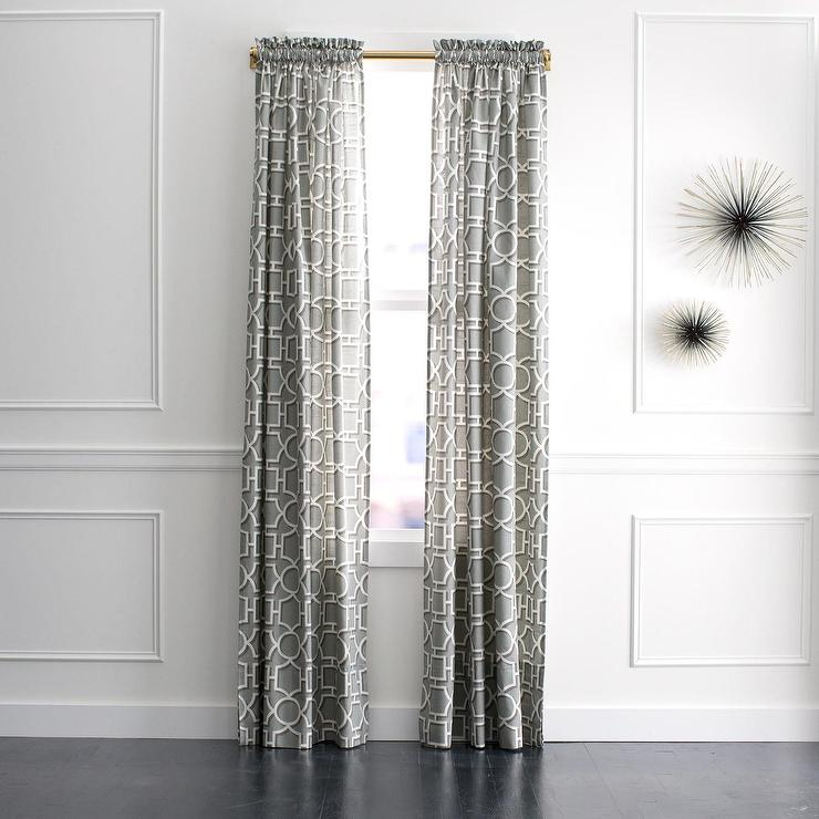 DwellStudio Vreeland Grey Curtain Panel