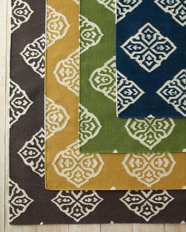 Medallion Flat Weave Various Colors Wool Rug