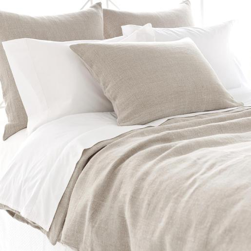 Stone Washed Taupe Linen Duvet Cover