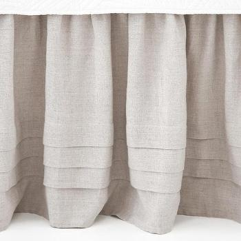 Pleated Linen Natural Bed Skirt, Pine Cone Hill