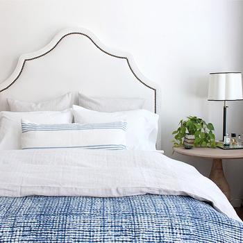 Noodle Indigo Stripe Bed Blanket