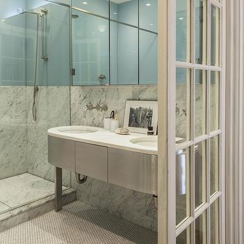 Oval Washstand, Contemporary, bathroom, Lonny Magazine