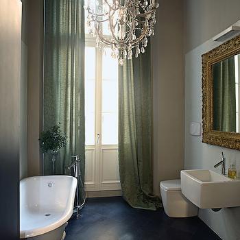 Gold Baroque Mirror, Eclectic, bathroom, Lonny Magazine