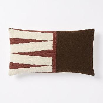 Steven Alan Color Block Zigzag Pillow Cover, Huckleberry, West Elm