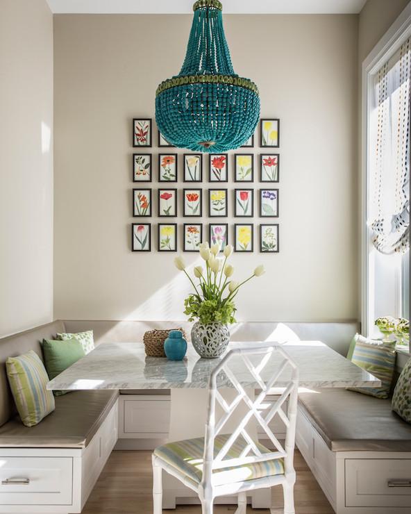 U Shaped Banquette - Transitional - dining room - Marks & Frantz