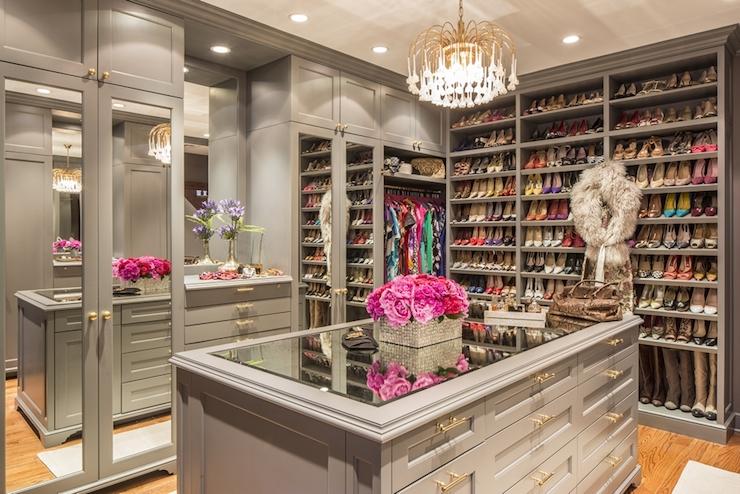 Gray Closet Built Ins Contemporary Closet Marks Amp Frantz