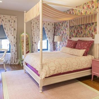 Pink Nightstands, Transitional, girl's room, Marks & Frantz