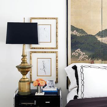 Foldings Screen Headboard, Eclectic, bedroom, Hallie Henley Design
