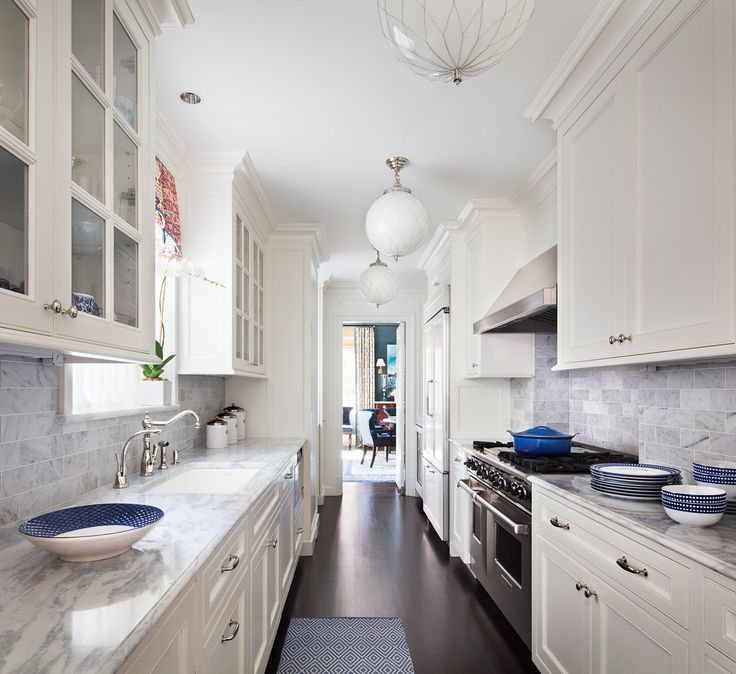 Galley Kitchen Ideas - Transitional - kitchen - Mark Hampton LLC