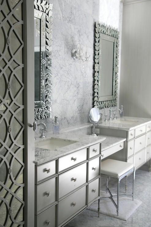 Glam Bathrooms Transitional Bathroom Amrami Design Group