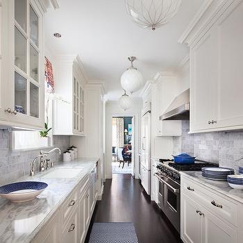 Galley kitchen ideas contemporary kitchen ruby photo for Galley kitchen backsplash ideas