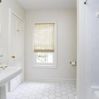 Hexagon Floor Tiles, Transitional, bathroom, HAR