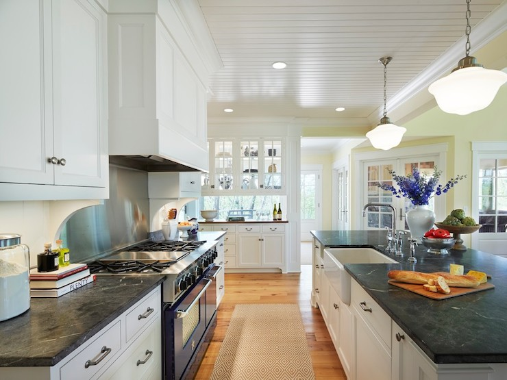 White Soapstone Countertops : Soapstone countertops traditional kitchen benjamin