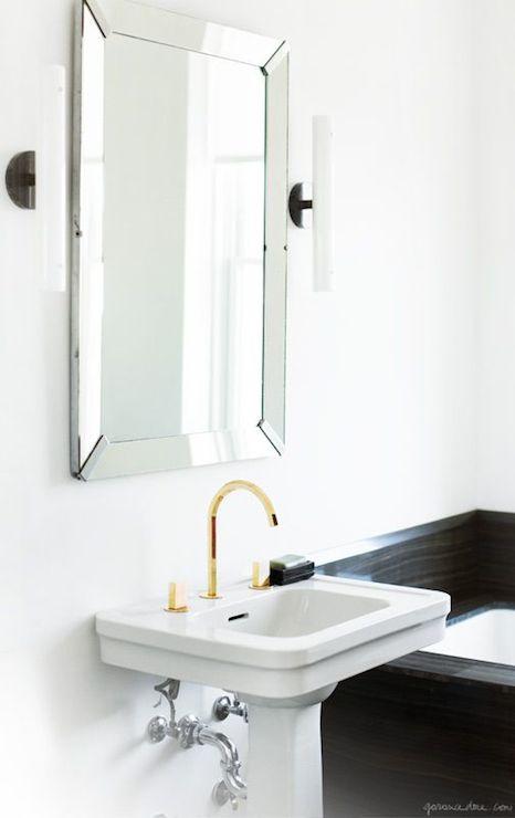 Gold And Black Bathroom Sconces Design Ideas