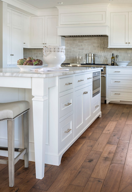 Gray Ceramic Tiles Transitional Kitchen Benjamin Moore Simply White Liz Schupanitz Designs