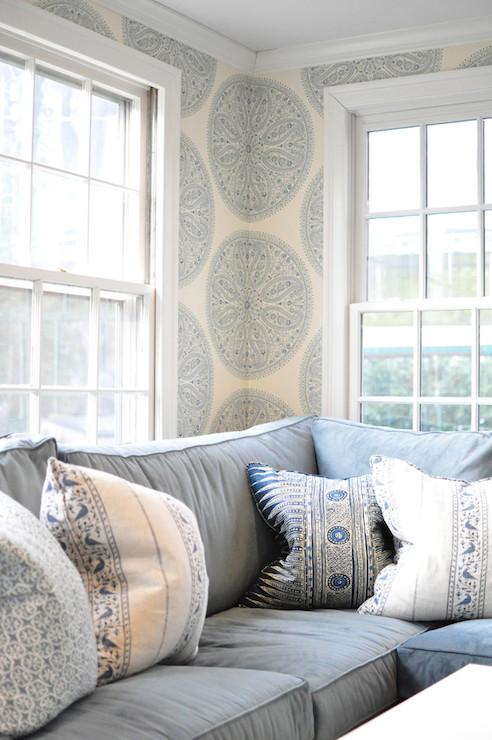 Cream And Blue Living Room Design Ideas