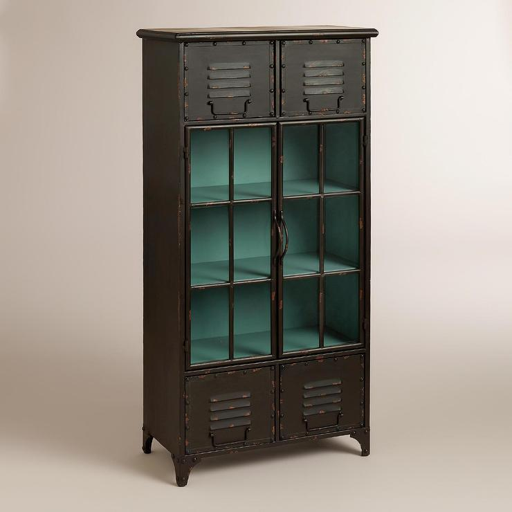 Kiley Grey Metal Locker Cabinet